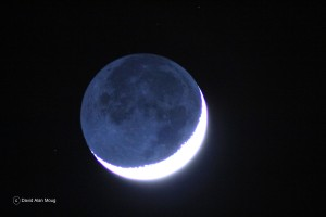 Crescent moon. Image obtained from Wikimedia.org