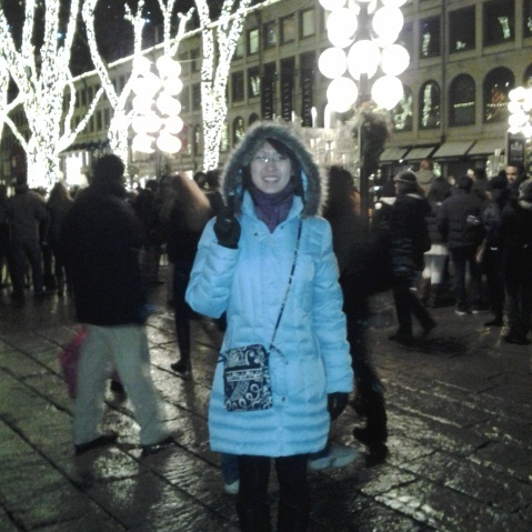 New Year's Eve at Faneuil Hall, Boston. Picture taken by Cassie Martin on my phone.