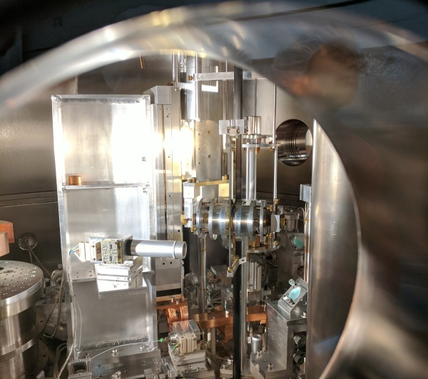 A peek inside NIST-4, the current Kibble Balance at NIST in Gaithersburg, MD.
